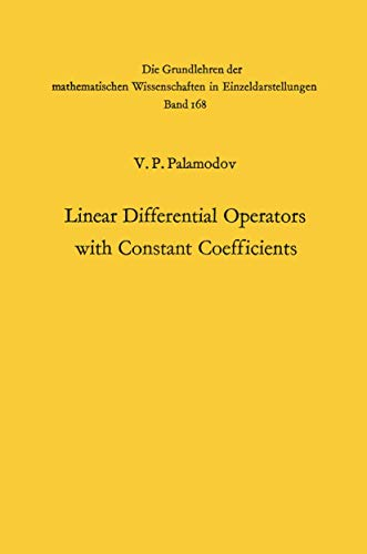 9783540048381: Linear Differential Operators with Constant Coefficients