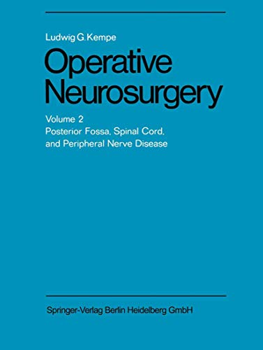9783540048909: Operative Neurosurgery: Volume 2 Posterior Fossa, Spinal Cord, and Peripheral Nerve Disease