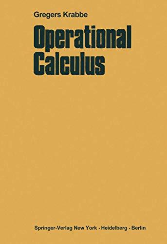 9783540048961: Operational Calculus