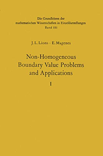 9783540053637: Non-Homogeneous Boundary Value Problems and Applications: Vol. 1 (Grundlehren der mathematischen Wissenschaften)