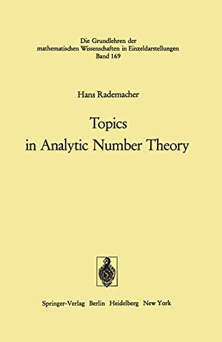 9783540054474: Topics in Analytic Number Theory (Grundlehren der mathematischen Wissenschaften)