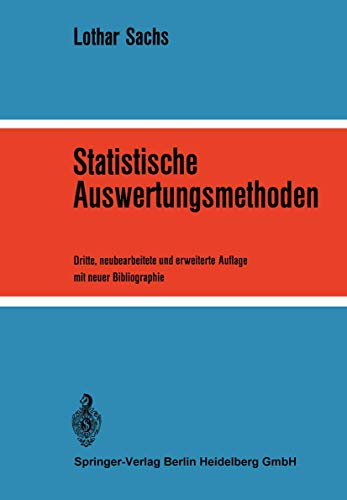 9783540055204: Statistische Auswertungsmethoden
