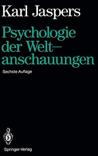 9783540055396: Psychologie Der Weltanschauungen.