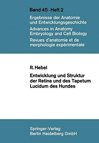 Entwicklung Und Struktur Der Retina Und Des Tapetum Lucidum Des Hundes: R. Hebel