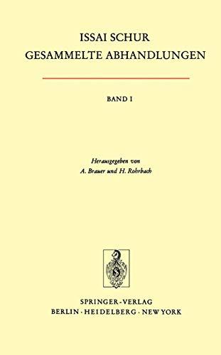 9783540056300: Gesammelte Abhandlungen I (German Edition)
