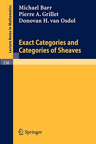9783540056782: Exact Categories and Categories of Sheaves (Lecture Notes in Mathematics)
