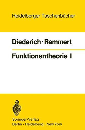 9783540056829: Funktionentheorie I: 103 (Heidelberger Taschenbücher)