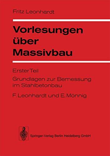9783540057338: Vorlesungen Uber Massivbau: Teil 1: Grundlagen Zur Bemessung Im Stahlbetonbau (English and German Edition)