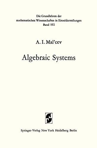 9783540057925: Algebraic Systems