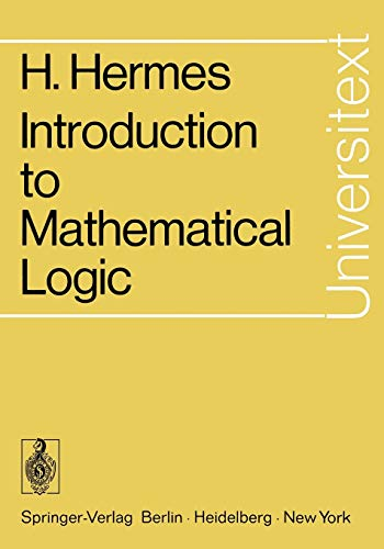 9783540058199: Introduction to Mathematical Logic