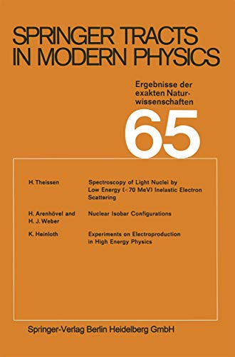9783540058762: Springer Tracts in Modern Physics