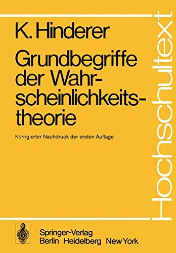 9783540060451: Grundbegriffe der Wahrscheinlichkeitstheorie (Hochschultext) (German Edition)