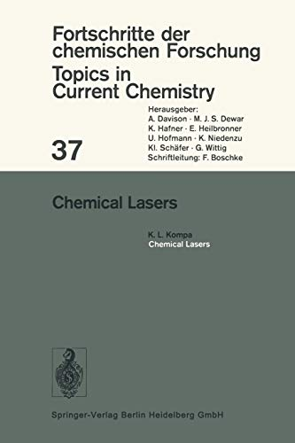 9783540060994: Chemical Lasers (Topics in Current Chemistry)