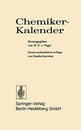 9783540061380: Chemiker-Kalender (German Edition)