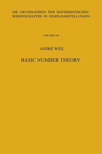 9783540061779: Basic Number Theory. (Grundlehren Der Mathematischen Wissenschaften (Springer Hardcover))