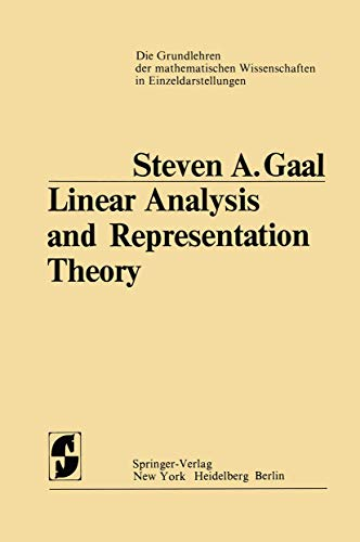 9783540061953: Linear Analysis and Representation Theory
