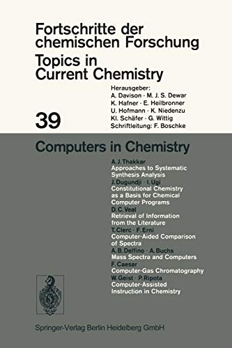 Computers in Chemistry Computers in Chemistry, Houk, Kendall N., New, 9783540062318 PRINT ON DEMAND Book; New; Publication Year 2016; Not Signed; Fast Shipping from the UK.