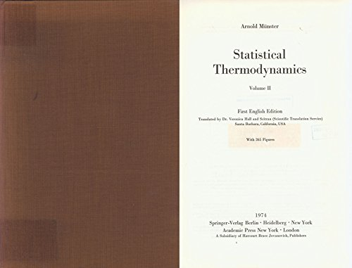 9783540063261: Statistical Thermodynamics: Volume 2: Theory of Crystals. Theory of Liquids