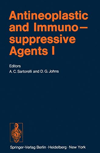 9783540064022: Antineoplastic and Immunosuppressive Agents: Part I (Handbook of Experimental Pharmacology)