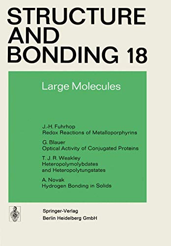 9783540066583: Large Molecules (Structure and Bonding)