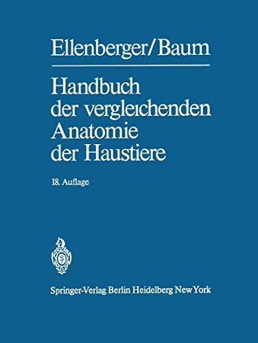 9783540067177: Handbuch der vergleichenden Anatomie der Haustiere (German Edition)