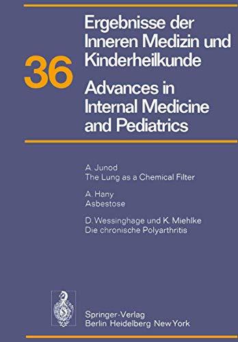 9783540068181: Ergebnisse der Inneren Medizin und Kinderheilkunde / Advances in Internal Medicine and Pediatrics: Neue Folge (Ergebnisse der Inneren Medizin und ... Advances in Internal Medicine and Pediatrics)