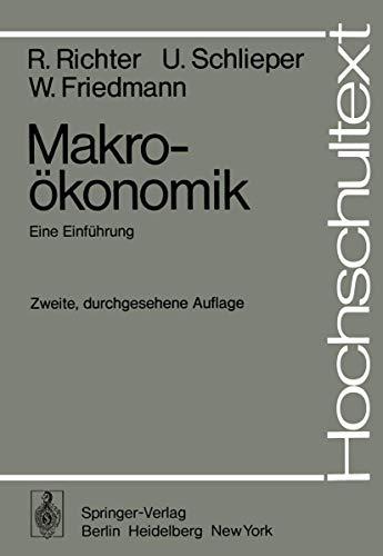 9783540070528: Makroökonomik: Eine Einführung (Hochschultext) (German Edition)