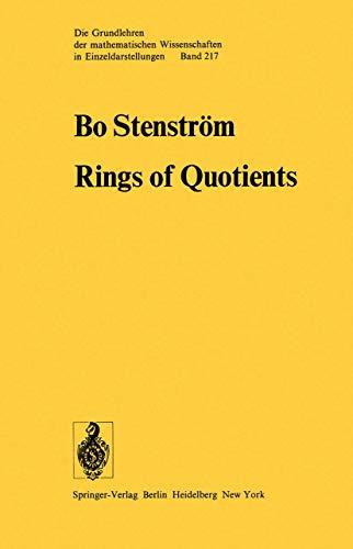 9783540071174: Rings of Quotients: An Introduction to Methods of Ring Theory (Grundlehren der mathematischen Wissenschaften)