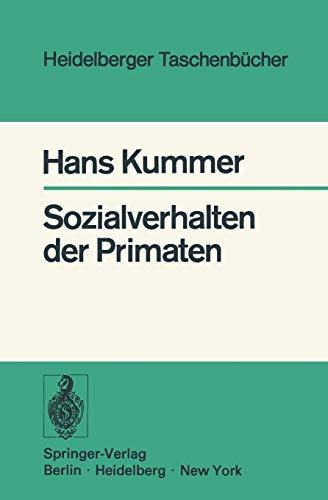9783540071266: Sozialverhalten der Primaten (Heidelberger Taschenb�cher)