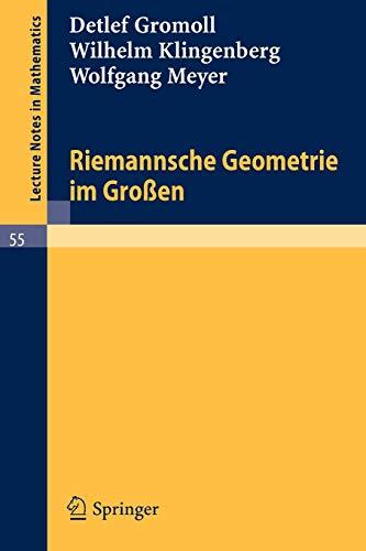 9783540071334: Riemannsche Geometrie im Grossen (Lecture Notes in Mathematics, No. 55) (German Edition)