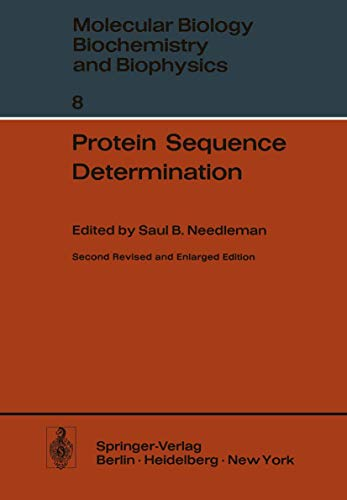 Protein Sequence Determination - A Sourcebook of Methods and Techniques. Molekularbiologie, Bioch...
