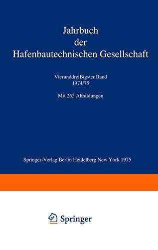 9783540072911: Jahrbuch der Hafenbautechnischen Gesellschaft