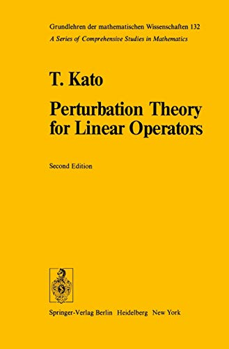 9783540075585: Perturbation Theory for Linear Operators