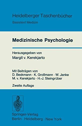 Medizinische Psychologie Basistext Medizin Heidelberger Taschenbücher German Edition