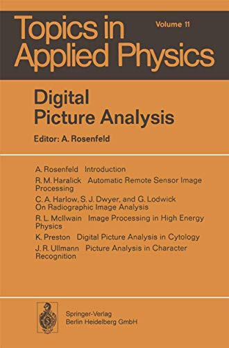 9783540075790: Digital Picture Analysis (Topics in Applied Physics)