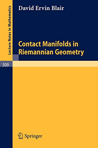 9783540076261: Contact Manifolds in Riemannian Geometry (Lecture Notes in Mathematics)
