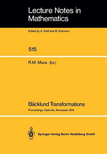 Bäcklund Transformations: Dold/Eckmann (dir.)