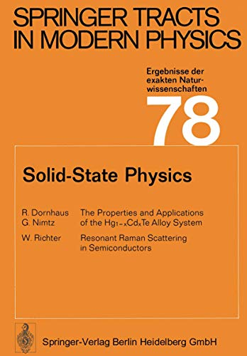 9783540077749: Solid-State Physics (Springer Tracts in Modern Physics)