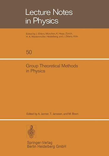 9783540077893: Group Theoretical Methods in Physics: Fourth International Colloquium, Nijmegen 1975 (Lecture Notes in Physics) (English and French Edition)