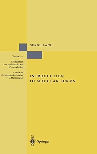 9783540078333: Introduction to Modular Forms (Grundlehren der mathematischen Wissenschaften)