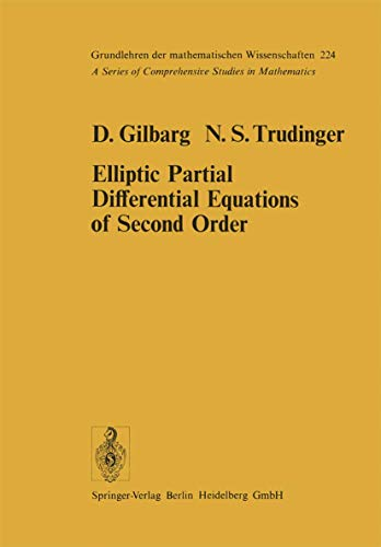 9783540080077: Elliptic Partial Differential Equations of Second Order