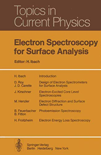 9783540080787: Electron Spectroscopy for Surface Analysis (Topics in Current Physics)