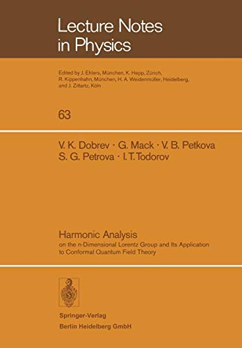 Harmonic Analysis: On the N-dimensional Lorentz Group: Dobrev, V. K./