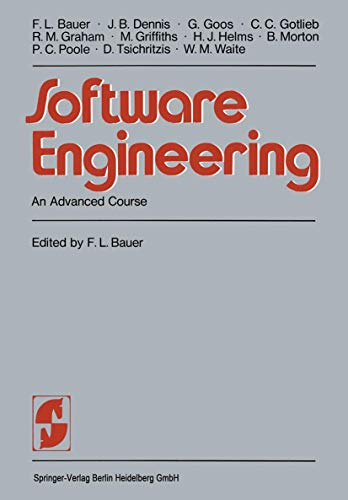 9783540083641: Software Engineering: An Advanced Course (Springer Study Edition)