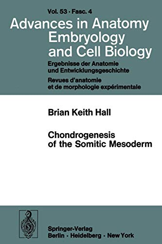 Advances in Anatomy, Embryology and Cell Biology