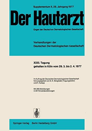 9783540085188: Tagung, gehalten in Köln vom 29.3. bis 2.4.1977 (Verhandlungen der Deutschen Dermatologischen Gesellschaft)