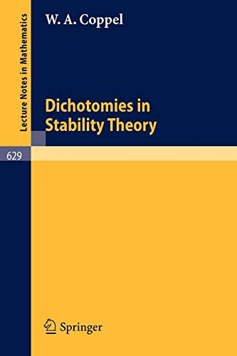 9783540085362: Dichotomies in Stability Theory (Lecture Notes in Mathematics)