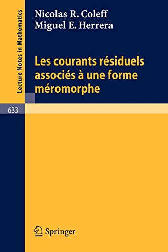 Les courants residuels associes a une forme: Coleff, N. R.,