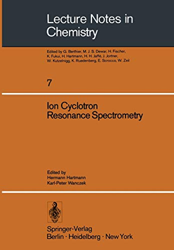 9783540087601: Ion Cyclotron Resonance Spectrometry (Lecture Notes in Chemistry)