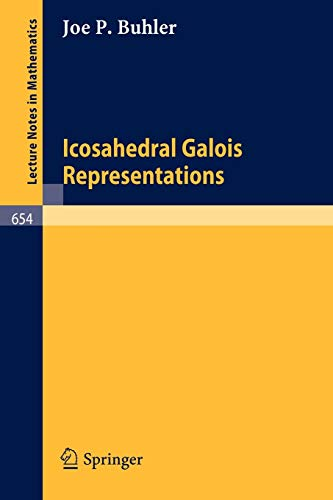9783540088448: Icosahedral Galois Representations (Lecture Notes in Mathematics)